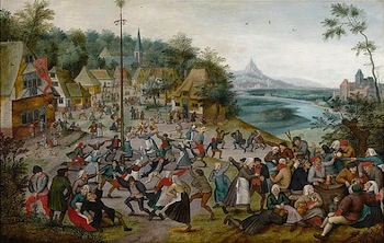 Pieter Brueghel the Younger, Dance Around the Maypole, ca 1625-1630, oil on canvas. Gift of Val A. Browning.
