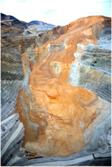 Center for Land Use Interpretation (CLUI), Recent landslide at Bingham Canyon Mine, 2013. Digital Print. Purchased with funds from the Paul L. and Phyllis C. Wattis Endowment for Works on Paper, UMFA