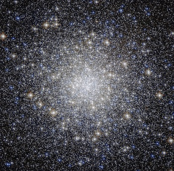 The Messier 92 globular cluster seen through the Hubble Space Telescope. NASA photo.