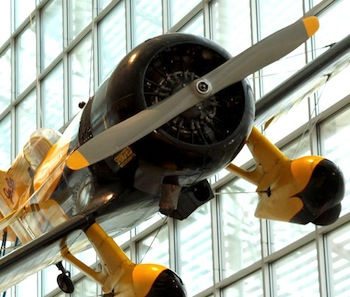 Photo of Granville Gee Bee replica at The Museum of Flight. Ted Huetter/The Museum of Flight, Seattle.