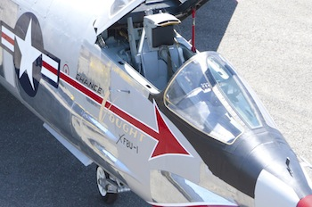 The Museum of Flight's Chance Vought XF8U-1 Crusader. Julie Wilbert/The Museum of Flight