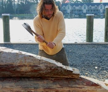 Log canoe to launch at April 22 Blessing of the Fleet at the Chesapeake Bay Maritime Museum