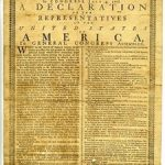 Holt broadside printing of the Declaration of Independence on display at Cincinnati Museum Center