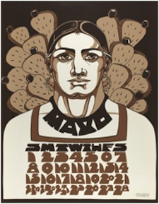 Judithe Hernández, Reina de la Primavera, from Méchicano 1977 Calendario, 1976, screenprint, Smithsonian American Art Museum, Museum purchase through the Luisita L. and Franz H. Denghausen Endowment. © 1976, Judithe Hernández.