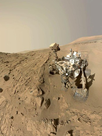 Curiosity Self-Portrait at 'Mojave' on Mount Sharp, Mars. NASA photo.