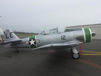 North American AT-6 Texan operated by the BRAVO 369 Foundation. Photo courtesy BRAVO 369 Foundation.