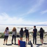 Utah Museum of Fine Arts and GSLI day of art and science at Spiral Jetty