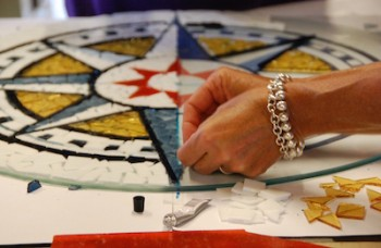 Create your own nautical stained glass mosaic