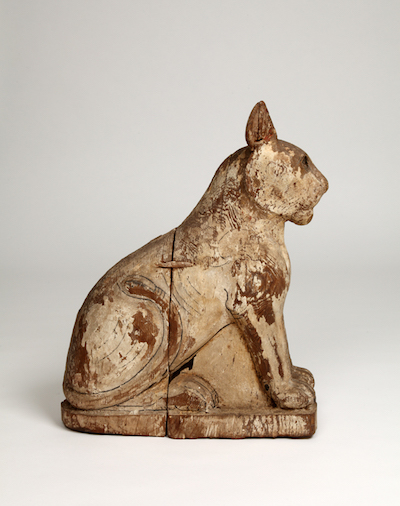 Wooden cat coffin, acc. no. 9303. From Saqqara.