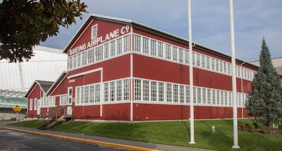 "The ""Red Barn,"" Boeing's first aircraft factory, on exhibit at The Museum of Flight. Ted Huetter/The Museum of Flight, Seattle."