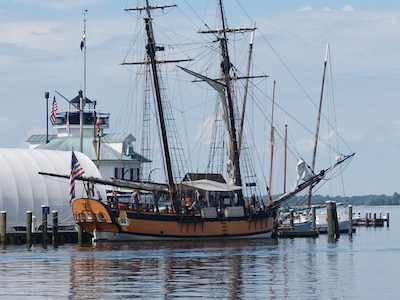 Schooner Sultana at the Chesapeake Bay Maritime Museum in St. Michaels