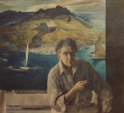 Henriette Wyeth, Portrait of My Father, 1937. Roswell Museum and Art Center, Gift of Mr. and Mrs. Donald Winston, 1953.