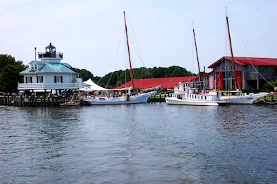 A $250,000 grant from the Maryland General Assembly's Bond Bill program has recently been awarded to the Chesapeake Bay Maritime Museum in St. Michaels, Md.—shown here from the Miles River