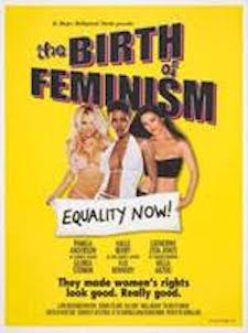 "Guerrilla Girls. Birth of Feminism movie poster. 2001. From the ""Portfolio Compleat"". The Baltimore Museum of Art: Women's Committee Acquisitions Endowment for Contemporary Prints and Photographs, BMA 2015.47.66. © Guerrilla Girls"