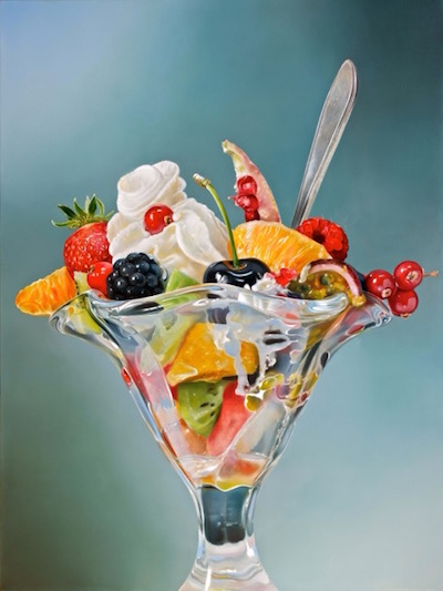 "Tjalf Spaarnay, ""Fruit Salad,"" 2015 oil on linen, Courtesy of the Artist and Bernarducci Meisel Gallery"