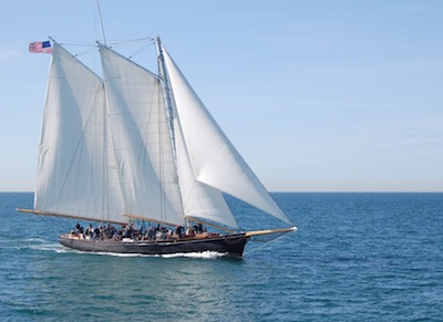 Public cruises aboard the sailing yacht America, seen here, will be offered departing from the Chesapeake Bay Maritime Museum in St. Michaels, Md