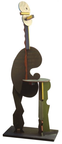Ben Schonzeit The Artist, 1994 Painted wood Height: 84 inches, Width: 17 X 33 inches