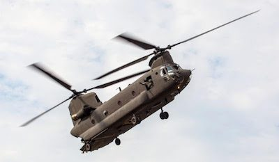 Boeing CH-47 during a visit to The Museum of Flight in 2012. Francis Zera/The Museum of Flight photo.