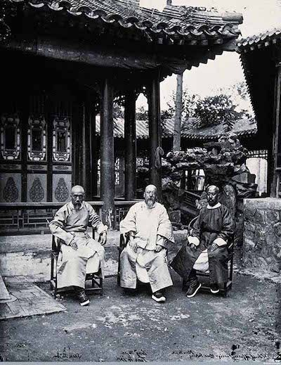 John Thomson  Three Chinese Ministers at the Office of Foreign Affairs, Beijing 1871-72