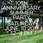10th Anniversary Glass House Summer Party, June 10, 2017