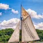 Hudson River sloop Clearwater at the Chesapeake Bay Maritime Museum this July
