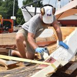 Edna's new hull takes shape at the Chesapeake Bay Maritime Museum