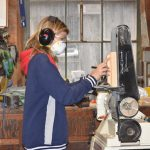 Girls Woodshop program at the Chesapeake Bay Maritime Museum this August