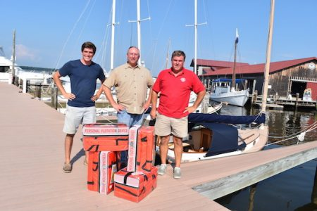 Life jackets donated for Chesapeake Bay Maritime Museum auction boats