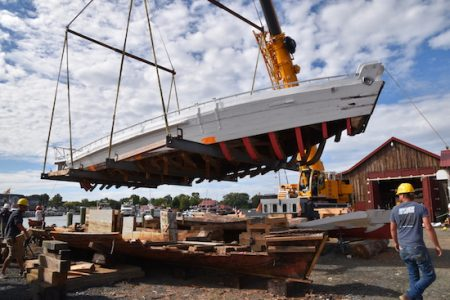 Shipwrights start next phase restoration of Edna E. Lockwood at the Chesapeake Bay Maritime Museum
