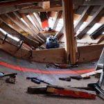 Winter brings progress to the Chesapeake Bay Maritime Museum's Edna Lockwood restoration