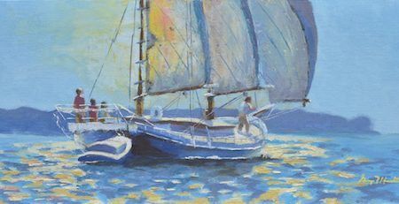 George Hamilton's Edna Lockwood painting wins  Chesapeake Bay Maritime Museum and St. Michaels Art League art contest