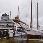 Bugeye Edna Lockwood relaunched at Chesapeake Bay Maritime Museum