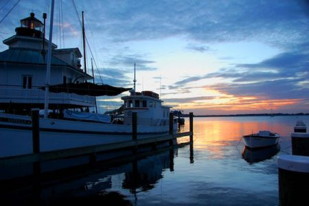 Easter Sunrise Service on the Miles River at the Chesapeake Bay Maritime Museum