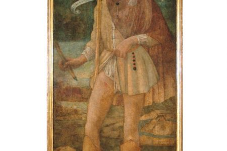 Painting of Saint Roch by Bartolomeo della Gatta in Horne Museum restored thanks to Friends of Florence