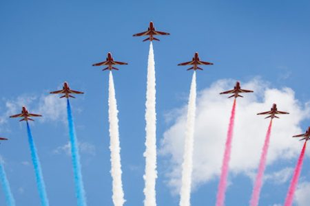 Museum of Flight Hosts Royal Air Force Red Arrows Aerobatic Team In Seattle