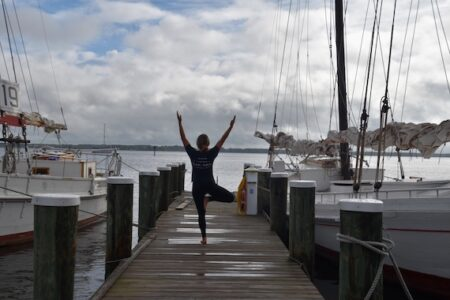 Sunset Yoga returns to Navy Point Chesapeake Bay Maritime Museum