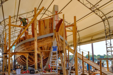 Get hands on with the construction of Maryland Dove at The Chesapeake Bay Maritime Museum